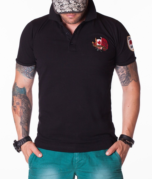 Dsquared Tricouri Polo - Caten Bros tricou polo negru