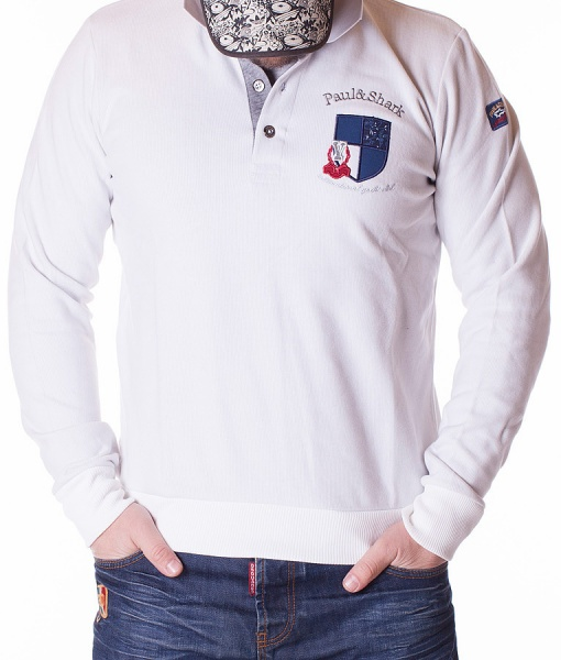 Paul & Shark Bluze Polo - Bluza Interenational Yacht Club - Alba