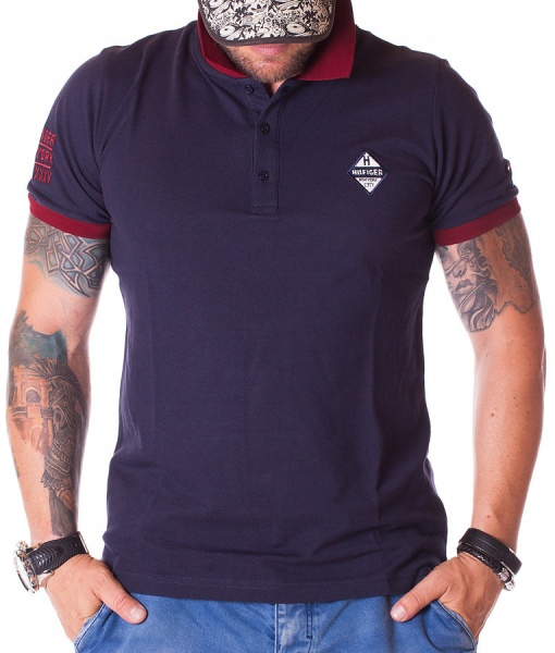 Tommy Hilfiger Tricouri Polo - Tricou Polo New York City - Bleumarin